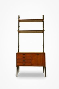 Louis van Teeffelen Wall Unit produced by WeBe, the Netherlands. This wall unit is in good condition and can be disassembled for transport. Origination: the Netherlands, 1960s