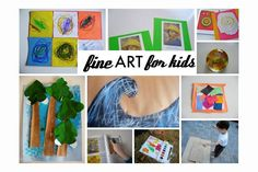 "Crafty and art ideas for younger kids to connect to great masters. ""No Time for Flash Cards"""