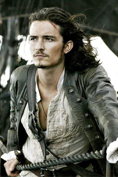Orlando Bloom (as Will Turner in Pirates of the Caribbean)