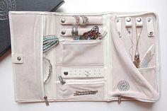 Vegan Leather Travel Jewelry Case - Jewelry Organizer