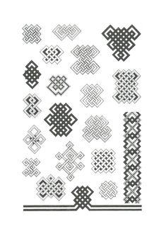 12 орнаментов. Анализ монгольских орнаментов - И в этот берег дикий стучит волною Тихий, ужасно тихий океан Islamic Art Pattern, Pattern Art, Pattern Paper, Pattern Design, Celtic Border, Arm Art, Paint Color Palettes, Kolam Rangoli, Bead Embroidery Patterns