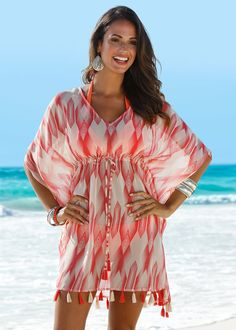 Beach Party Outfits, Beach Vacation Outfits, Women's Summer Fashion, Winter Fashion, Strand Kimono, Beach Kimono, Beach Attire, Country Fashion, Caftan Dress