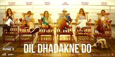 Dil Dhadakne Do: On a cruise to celebrate their parents' 30th wedding anniversary, a brother and sister deal with the impact of family considerations on their romantic lives.