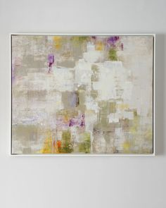 """Knife-gel finished giclee. Matte-white gallery float wood frame. 49.5""""W x 2""""D x 41.5""""T. Made in the USA. Weight, 15 lbs. Boxed weight, approximately 45 lbs."""
