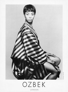 Naomi Campbell, Rifat Ozbek Ad 1988 Photo by Steven Meisel