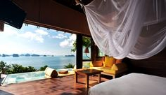 Escape to the Ocean Panorama Pool Villa at the Six Senses Yao Noi in Thailand.   #JetsetterCurator