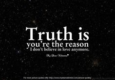 i don't believe in love anymore
