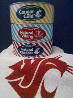 WSU Cougar Gold, Viking and Cheddar Cheese College Gifts, College Fun, Mac Cheese Recipes, Fun Recipes, Pasta Recipes, Candy Christmas Decorations, Christmas Trees, Washington State University, Gourmet