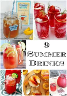 9 yummy summer drinks to stay cool and refreshed.