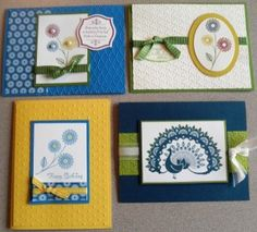 Handmade cards using World Treasures stamp set from Stampin' Up!