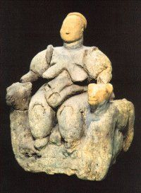 mother goddess figurine - similar to the Willendorf Venus style of figures - found at the neolithic/chalcolithic site of Çatalhöyük, Turkey
