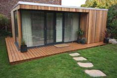 Garden rooms in Cheshire Garden Studio, Home Studio, Building A Cabin, Container Shop, Small Tiny House, Backyard Playhouse, Garden Buildings, Pool Houses, Kitchen Interior