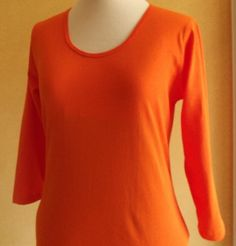 3/4 sleeve women's t-shirt, made from Australian made combed cotton jersey http://www.lahay.com.au/womens-3-4-sleeve-t-shirt #Australianmade #handmade