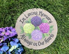 MEMORIAL GIFT, Hand Painted Stepping Stone, Purple Iris, Stone, Memorial Stepping Stone, Funeral Gift, Sympathy Gift, Bible Verse, Psalms by samdesigns22 on Etsy Employee Appreciation Gifts, Employee Gifts, Painted Stepping Stones, Funeral Gifts, Personalized Garden Stones, Memorial Garden Stones, Purple Iris, Step By Step Painting, Sympathy Gifts