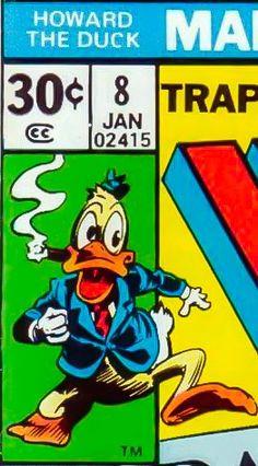 Marvel corner box art - Howard the Duck