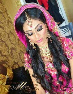 Arabian bridal makeup