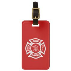 Fire Fighter Maltese Luggage Tags