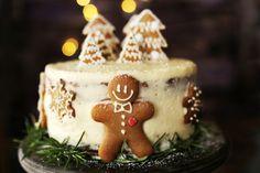 Fantasztikus mézeskalácstorta Naan, Christmas Cookies, Food, Cakes, Xmas Cookies, Meal, Christmas Crack, Essen, Hoods