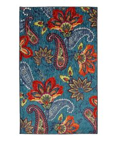 Loving this Blue Whinston Rug on #zulily! #zulilyfinds