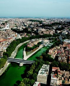 Roma dall'alto: Isola Tiberina