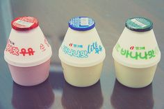 trio of banana milk
