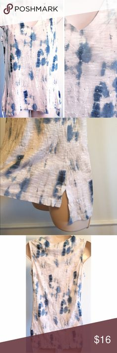 """❣BOGO 1/2 off❣Studded tie dye high low tank top So pretty! Size small & could also fit a smaller medium. Measures approx 27"""" long, 19"""" flat across bust. Silver studs on front. Stretchy & soft light poly/rayon blend. Flawless condition. 💙Bundle to save & ask me how to get BOGO 1/2 price! 💙NO TRADES, no modeling.💙 Reasonable offers welcome via offer button. The Real Truth Tops Tank Tops"""