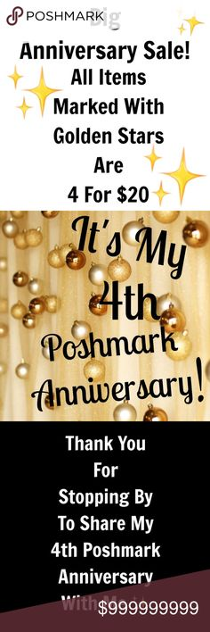 ONE WEEK ONLY! ✨❤️✨ POSHMARK ANNIVERSARY SALE ✨ All week POSHMARK ANNIVERSARY SALE Other