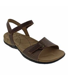 Another great find on #zulily! Brown Snake Catalina Claudia Leather Sandal - Women #zulilyfinds