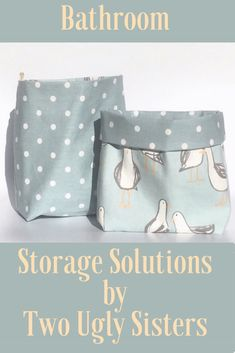 Coastal Themed Seagull Print Fabric Bathroom Storage Ideas for an Organised Home – tok Nautical Bathroom Decor, Seaside Decor, Nautical Cushions, Coastal Fabric, Fabric Storage Baskets, Bathroom Storage Solutions, Luxury Towels, Family Christmas Gifts, Polka Dot Print