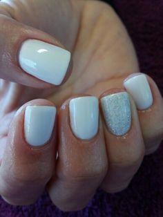 Gorgeous white nails
