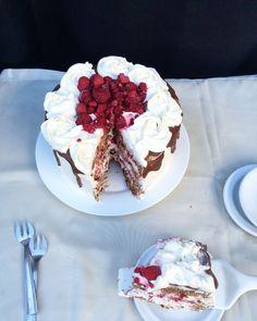 Layer Cake Chocolat Vanille Framboise Nutella, Oreo, Cake Chocolat, Gateaux Cake, Vegan, Tiramisu, Birthday Cake, Pudding, Baking