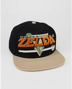 Embroidered Legend of Zelda Snapback Hat - Spencer's