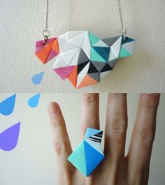 via Etsy. Could add geometric sections on to create one whole piece.