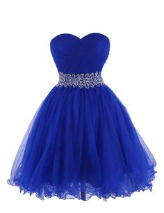 Tidetell 2015 Strapless Royal Blue Homecoming Beaded Short Prom Dresses Ball Gowns Size 18W