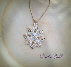 Pendente di bianco. Matrimonio JewelryTatting. di Emeliebeads