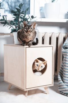 The pet house/cat litter box cabinet Juno is designed to blend into your modern home. This stylish piece of furniture is designed with love and care. Juno can be a hideaway for your pet or for the cat litter pan. If you choose to use it as a hideaway, simply put your pet's favourite pillow [...]
