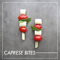 Caprese bites with string-cheese.