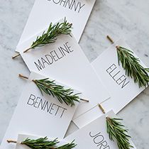 15 Unique Dinner Place Card Ideas  My Thirty Spot