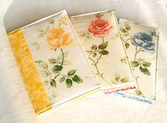 Fabric Journal Cover  The Three Graces  Yellow by PatchworkMill, $48.00