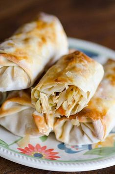 Easy Baked Chicken Egg Rolls Also served as an appetizer, these baked chicken egg rolls show up at our table, served alongside rice and veggies, as a favorite meal for our family. Egg Rolls Baked, Chicken Egg Rolls, Chicken Spring Rolls, Easy Baked Chicken, Chicken Eggs, Baked Spring Rolls, Chicken Recipes, Chicken Freezer, Chicken Wontons