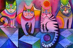 kaleidoscope of cats by karincharlotte on deviantART