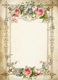 Imagem relacionada Papel Vintage, Floral Vintage, Vintage Cards, Vintage Paper, Vintage Flowers, Rose Frame, Flower Frame, Molduras Vintage, Vintage Borders