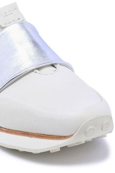 Shop on-sale Dylan strap-detailed leather slip-on sneakers. Browse other discount designer Fashion Sneakers & more luxury fashion pieces at THE OUTNET Slip On Sneakers, Leather Sneakers, Leather Slip Ons, Sneakers Fashion, Bones, Ivory, Winter, Winter Time, Dice