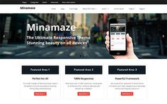 Minamaze features a custom theme options panel allowing you to set up your theme easily
