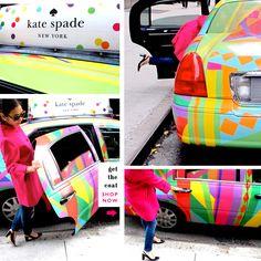 Kate Spade taxis