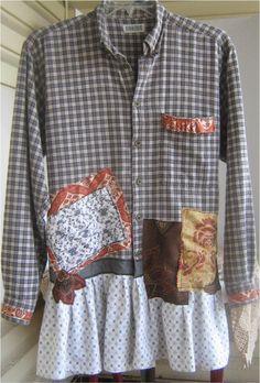www.bonanza.com/bizbelle  Jacket/Dress/Long Shirt!  So much versatility with this fun, creative wearable art fashion statement.  Express yourself!