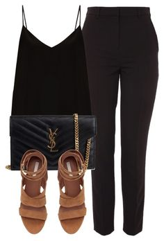 """Untitled #6671"" by laurenmboot ❤ liked on Polyvore featuring Topshop, Raey and Yves Saint Laurent"