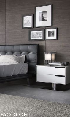 Modloft's new Howard bed, designed by Guillermo Gonzalez, reminds me of modern classics and a bygone era. Rich, tufted supple leather headboard with a floating design, definitely a new fav of mine! All available in our quick-ship program for immediate delivery.