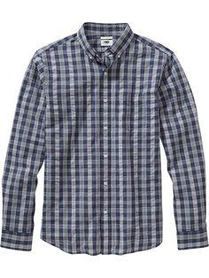 Men's Slim-Fit Seersucker Shirts Product Image