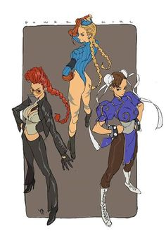 """""""Viper, Cammy White, and Chun-Li"""" by Kim Il Kwang*   • Blog/Website 